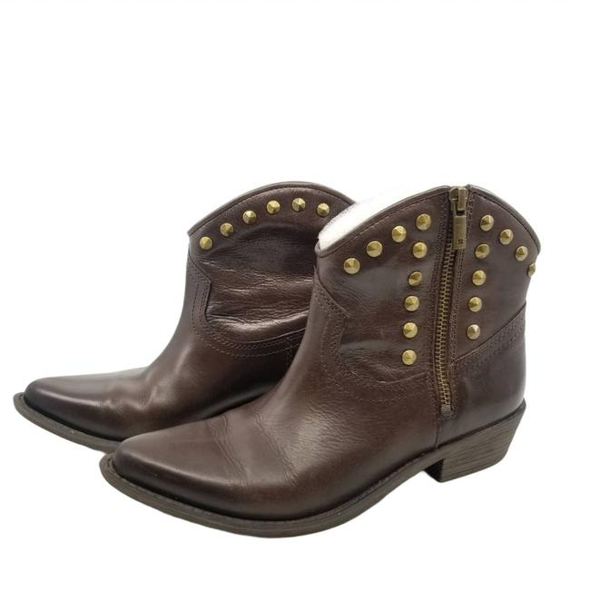 Item - Brown W Western W/Studs 7.5m Boots/Booties Size US 7.5 Regular (M, B)