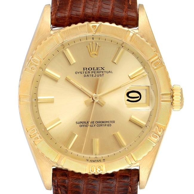 Item - Champagne Datejust Turnograph 18k Yellow Gold Vintage Mens 6609 Watch