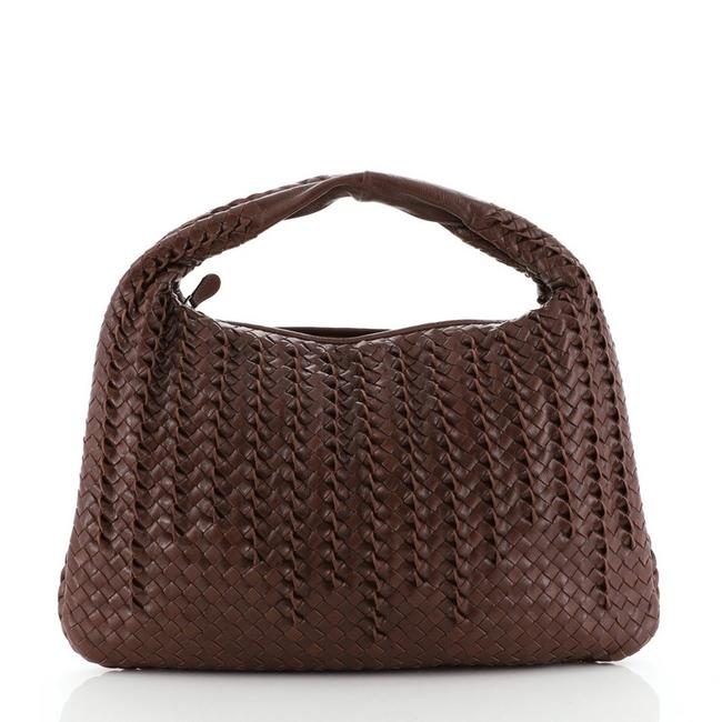 Item - Intrecciato Nappa with 3d Detail Large Brown Leather Hobo Bag