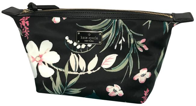 Item - Black Multi Wilson Road Botanical Jodi Small Pouch Cosmetic Bag