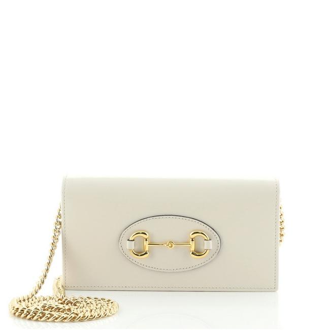 Item - Clutch Chain Wallet Horsebit 1955 Neutral Leather Cross Body Bag