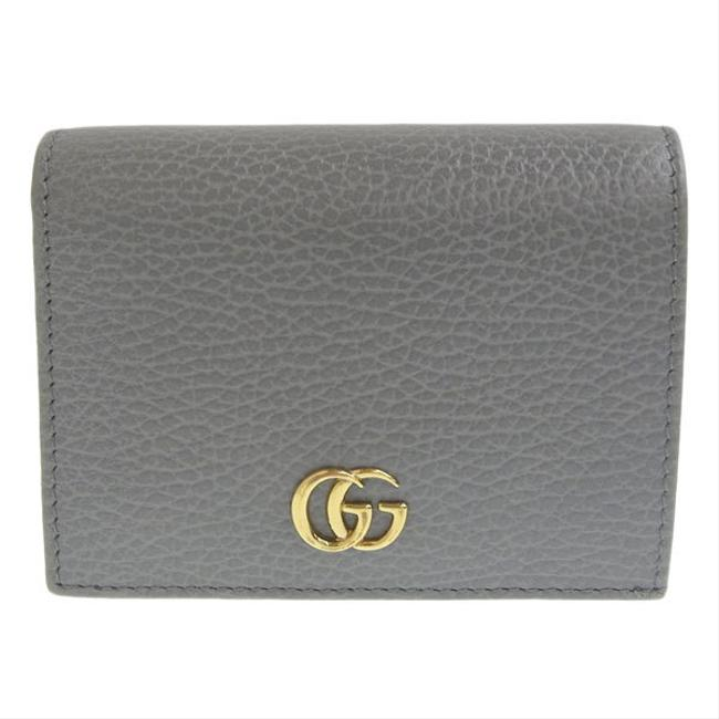 Item - Gray Leather Compact Bi-fold 456126 Wallet