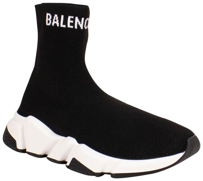 Item - Black Knit 'speed' Ankle Sneakers Boots/Booties Size EU 36 (Approx. US 6) Regular (M, B)