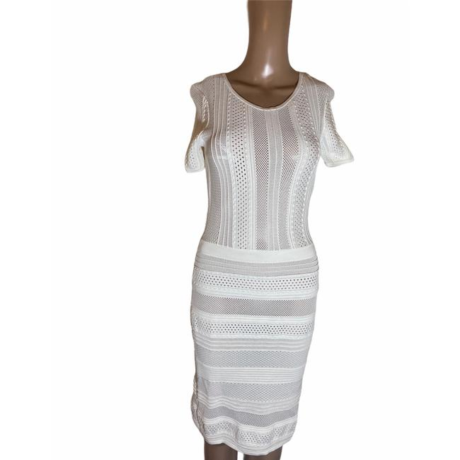Item - White Mid-length Night Out Dress Size 2 (XS)