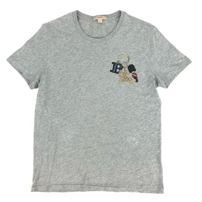 Item - Grey W Mens Cotton T-shirt Logo Tee Shirt Size OS