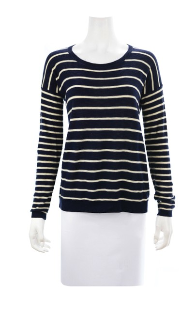 Item - Blue Beige Striped Size X-small Navy/White Sweater