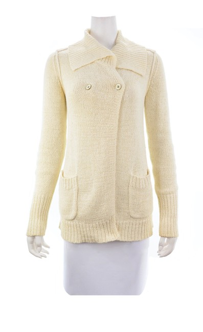 Item - Knit Button Size Small Ivory Sweater
