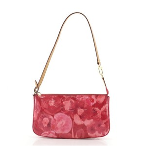 Item - Pochette Accessoires Nm Limited Edition Monogram Vernis Ikat Multicolor Pink Patent Leather Clutch