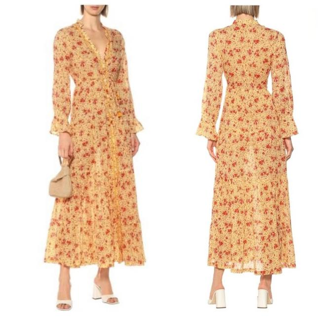 Item - Orange Rita Floral Large Casual Maxi Dress Size 12 (L)