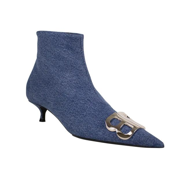 Item - Blue Denim 'bb' Ankle Booties Heels Pumps Size EU 38 (Approx. US 8) Regular (M, B)