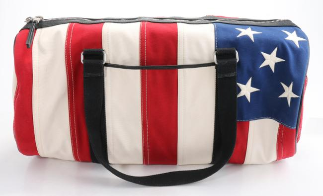 Item - Red/White/Blue Natural American Flag Barrel Bag Men's Jewelry/Accessory