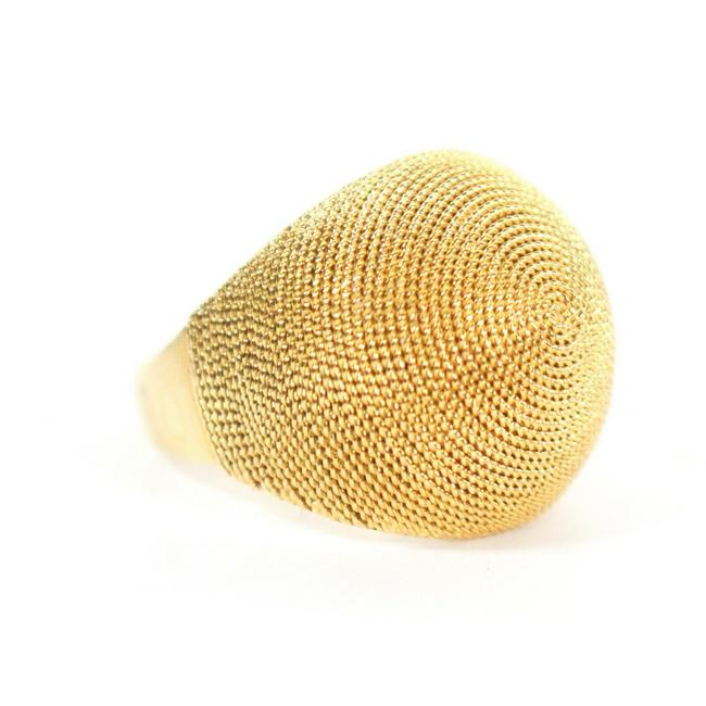 Item - Yellow Gold Paloma Picasso Large Round Mesh Dome Us 7 Ring