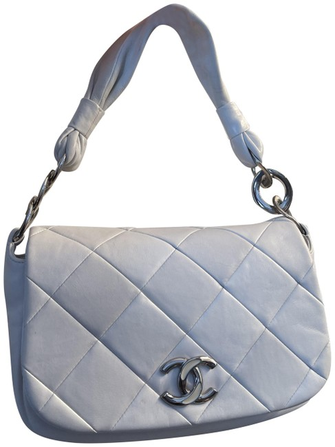Item - Classic Quilted Flap Pillow Soft Handle Cream Lambskin Leather Shoulder Bag