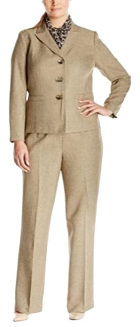 Item - Cream Tan Tweed Pant Suit Size 8 (M)