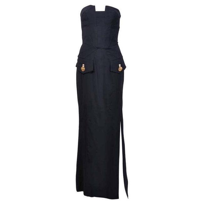 Item - Black New Mila Kunis Wore On The Red Carpet Long Night Out Dress Size 4 (S)
