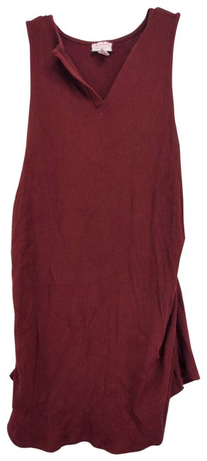 Item - Maroon Ruched Blouse Maternity Top Size 4 (S)