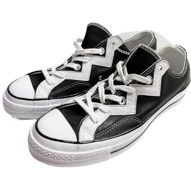 Item - Black Chuck 70 Zig Zag Lo Leather Voltage Trainers Sneakers Size US 8 Regular (M, B)