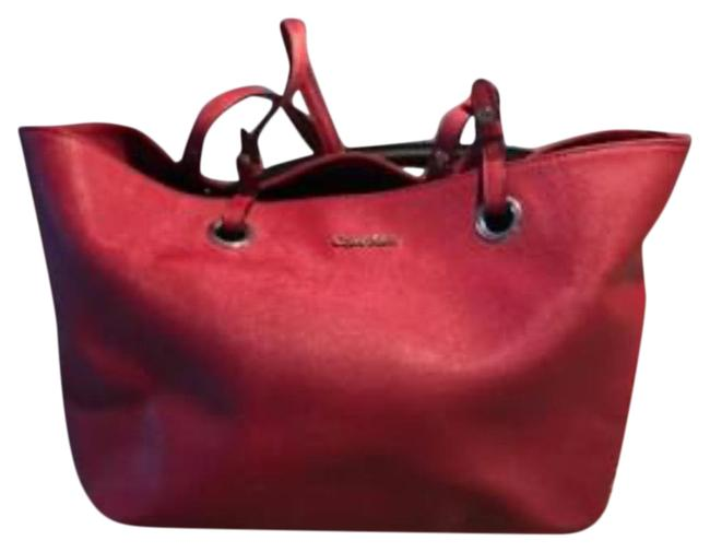 Item - Scarlett Saffiano Red Leather Tote