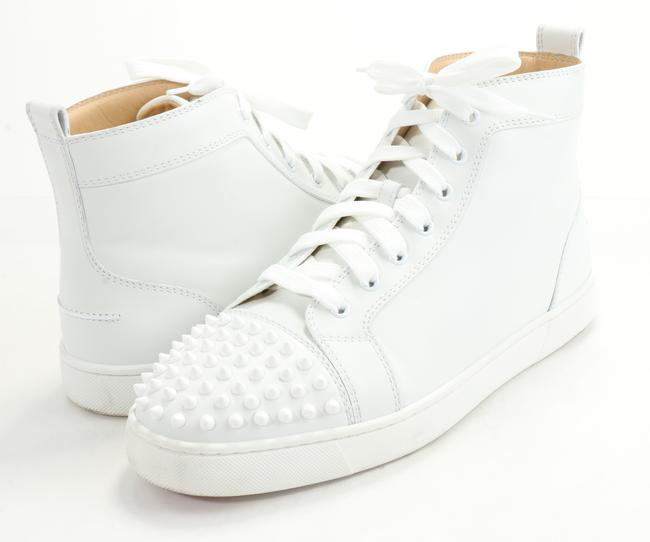 Item - White Lou Spikes High-top Sneakers Shoes