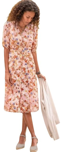 Item - Pink New Floral Sonora Bloom Cottage Core Casual Maxi Dress Size 4 (S)