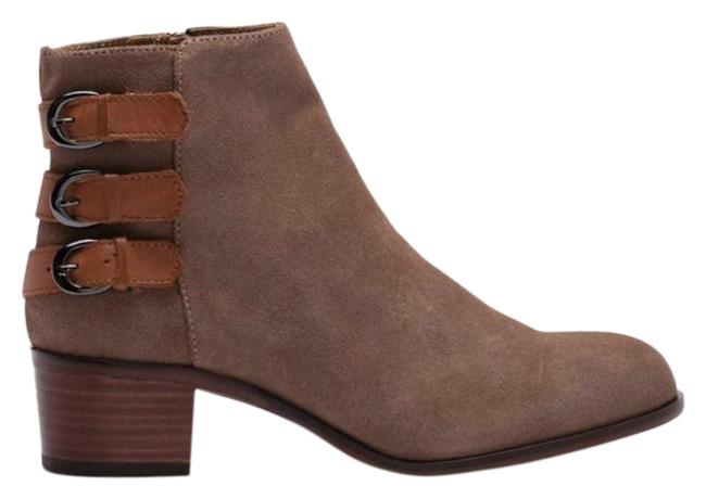 Item - Tan Brown Taupe Buckle Ankle Boots/Booties Size US 7 Regular (M, B)