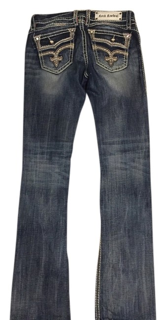 Item - Blue Distressed Eleanor Boot Cut Jeans Size 28 (4, S)