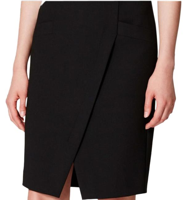 Item - Black Faux Wrap Pencil 2p Skirt Size Petite 2 (XS)