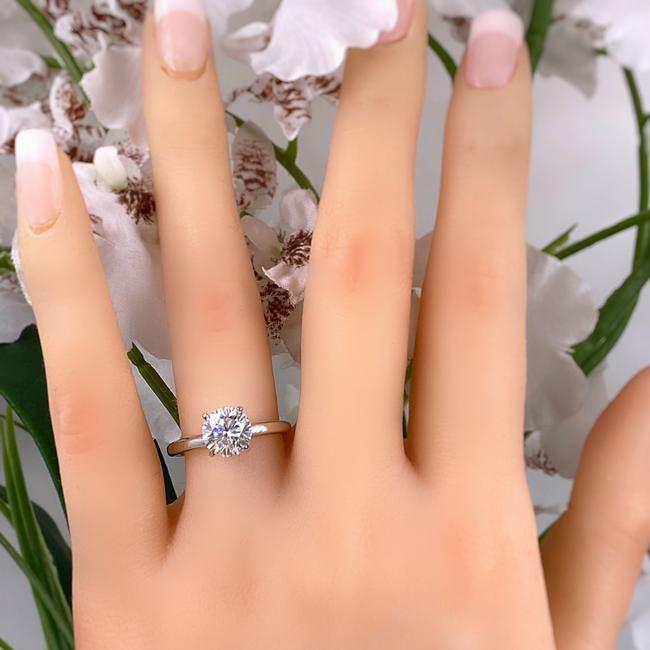 Item - White Gold Round Brilliant 1.52 Cts H Si1 Solitaire 14k Engagement Ring