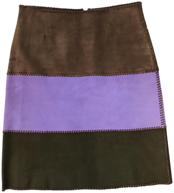 Item - Brown and Lavender Skirt Size 6 (S, 28)