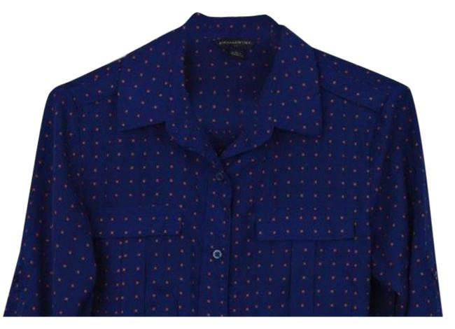 Item - Blue Orange Button-down Top Size 4 (S)