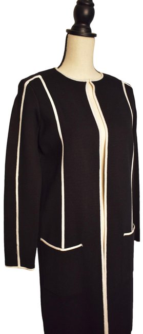 Item - Black and White Piped Topper Jacket Size Petite 4 (S)