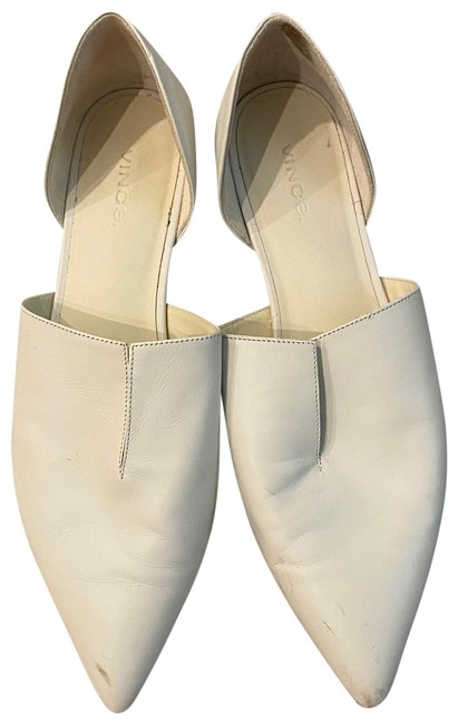 Item - White Leather D'orsay Loafers Flats Size EU 38.5 (Approx. US 8.5) Regular (M, B)