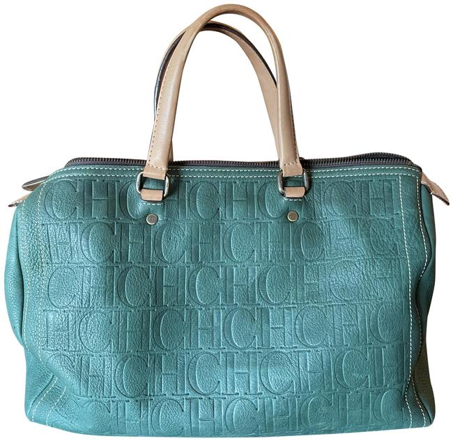 Item - Bowling Bag Andy Large Green Leather Tote