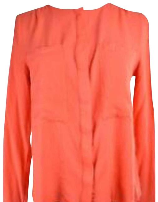 Item - Red Meave For Anthro Blouse A04 Button-down Top Size 0 (XS)