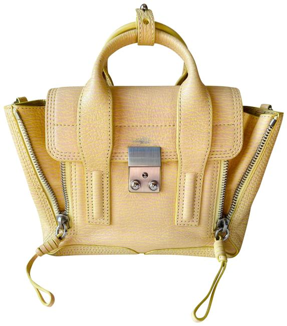 Item - Pashli Mini Yellow and Pink Leather Satchel