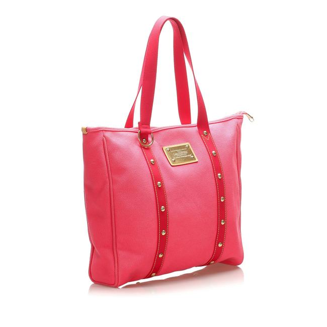 Item - Cabas Antigua Gm Pink Canvas Tote