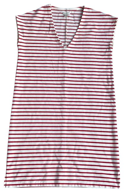 Item - Red/White Rn 77388 Mid-length Short Casual Dress Size 00 (XXS)