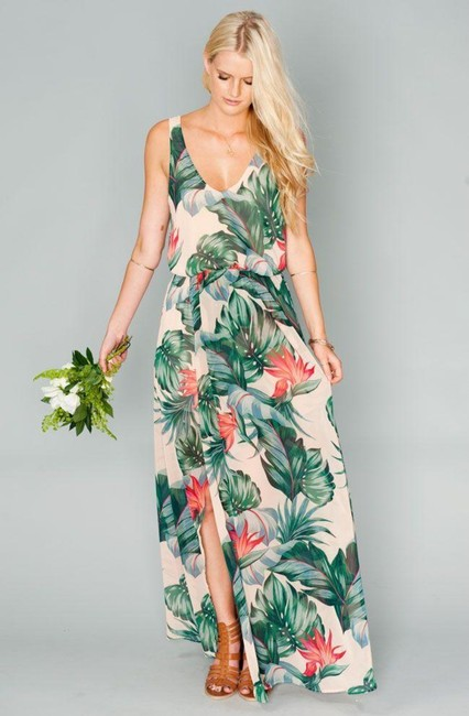 Item - Green Kendall Paradise Found Long Casual Maxi Dress Size 2 (XS)