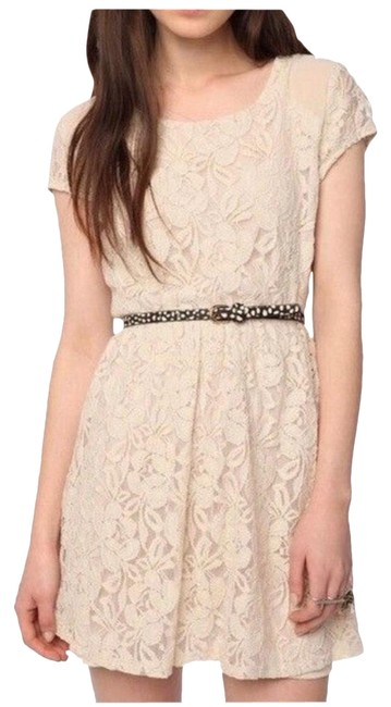 Item - Cream Coincidence & Chance Short Casual Dress Size 4 (S)