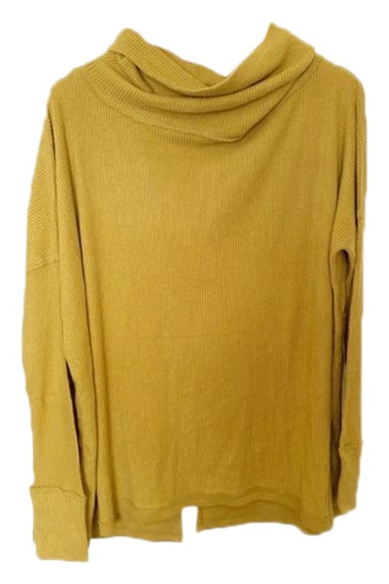 Item - XS Juicy Long Sleeve Cowl Neck Shirt Yellow Gold Sweater