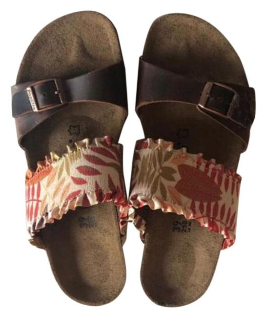 Item - Brown Papillio Della Flower Fill Leather Wedge Sandals Size US 9 Narrow (Aa, N)