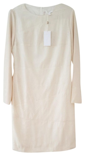 Item - Cream Wool Dramina Sz.10 Mid-length Work/Office Dress Size 10 (M)