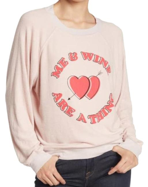 Item - Me and Wine Are A Thing Pink Cream Sweater