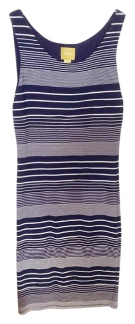 Item - Blue White Anthro Maeve and Striped Mini Mid-length Short Casual Dress Size 8 (M)