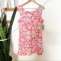 Lilly Pulitzer Pink Green Delia Call Me Kitty Cat Print Shift Short Casual Dress Size 14 (L) Lilly Pulitzer Pink Green Delia Call Me Kitty Cat Print Shift Short Casual Dress Size 14 (L) Image 2