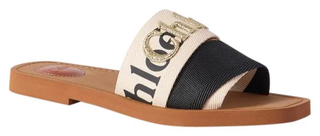 Item - New Woody Logo-embroidered Canvas Slides Sandals Size EU 38 (Approx. US 8) Regular (M, B)