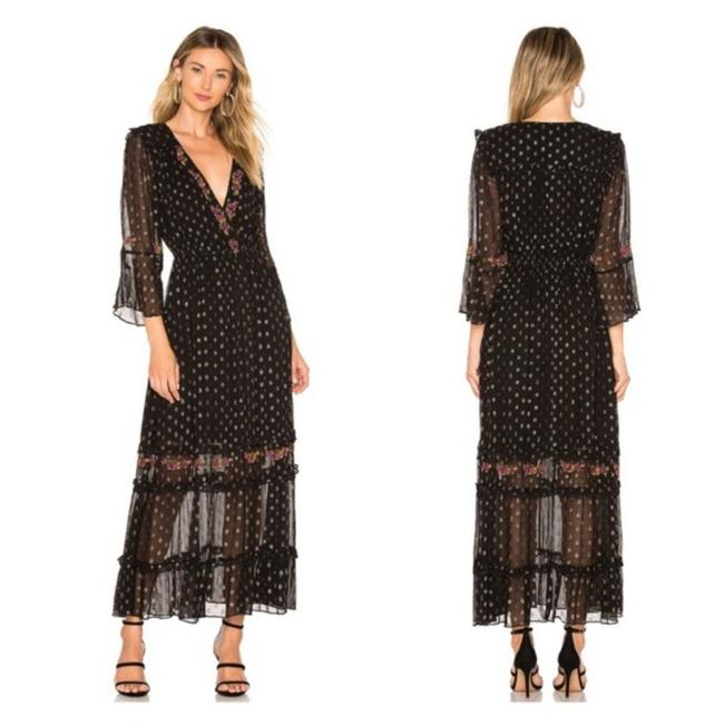 Item - Black Sasha In Long Night Out Dress Size 4 (S)
