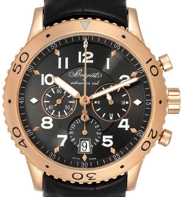 Item - Grey Type Xxi Flyback 18k Rose Gold Chronograph Mens 3810br Watch