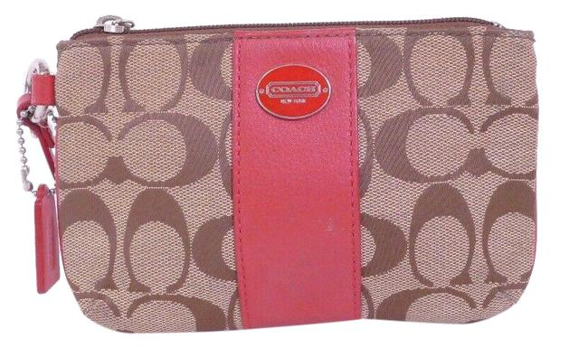 Item - Brown & Pink Signature Pouch***