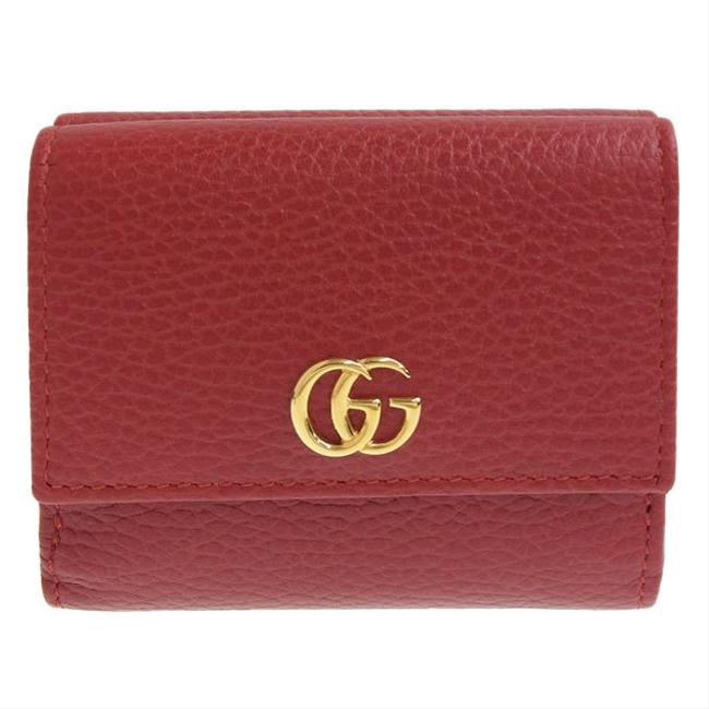 Item - Red Color Marmont W Gg Leather Hook Fold 524672 Wallet